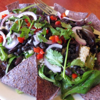 red and black taco salad