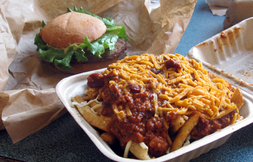 evolution burger chili cheese fries
